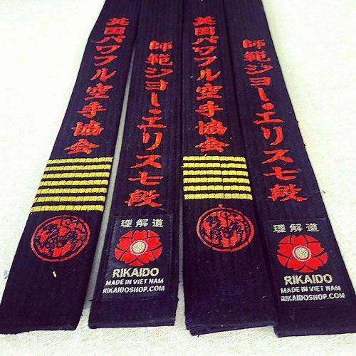 đai đen karate cao cấp