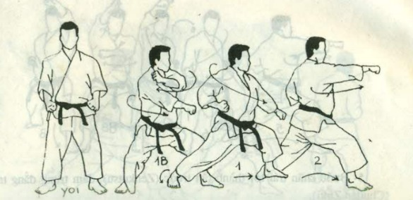 heian shodan, bài quyền sô 1 karate